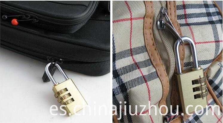 Brass Combination Lock for Your Bag When You Are Traveling